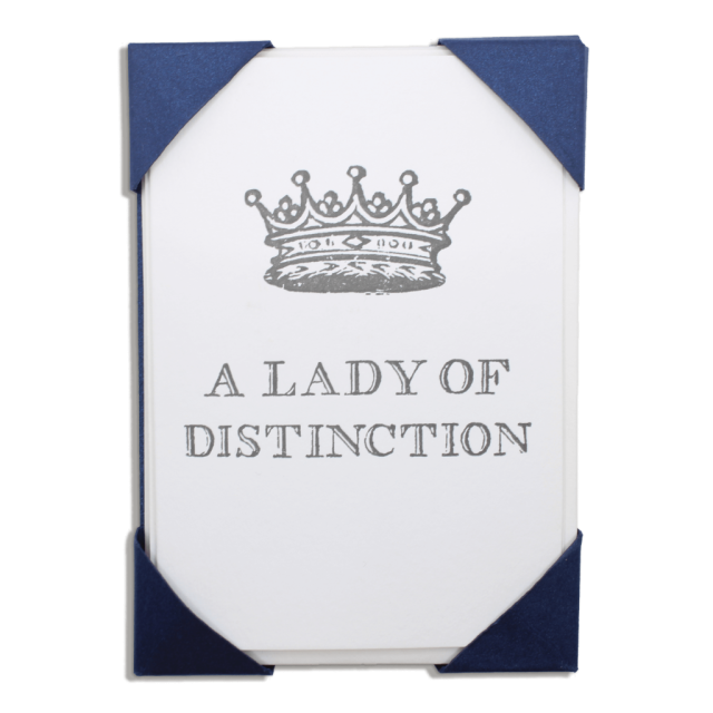 Lady of Distinction - Notelets Packs - from Archivist Gallery