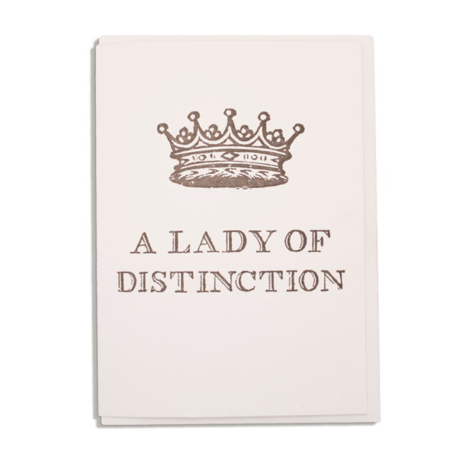 A Lady of Distinction - Notelets Singles - from Archivist Gallery