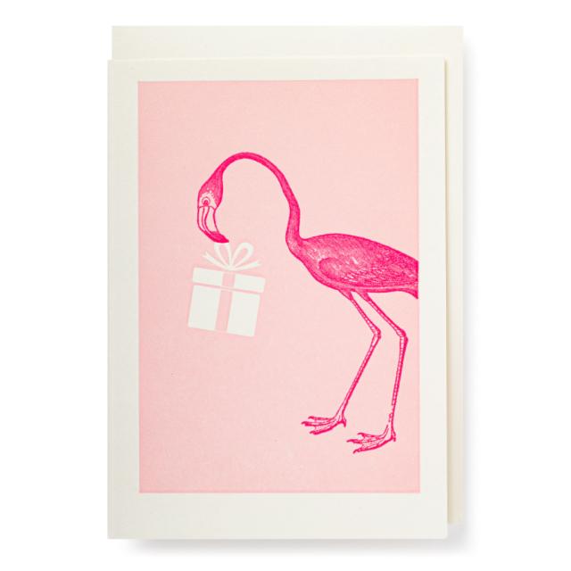 Flamingo with Present