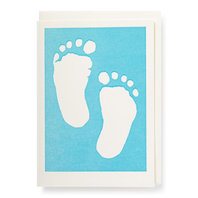 Baby feet blue
