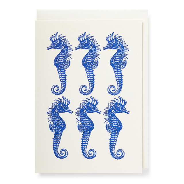 Six Seahorses - Notelets Singles - from Archivist Gallery