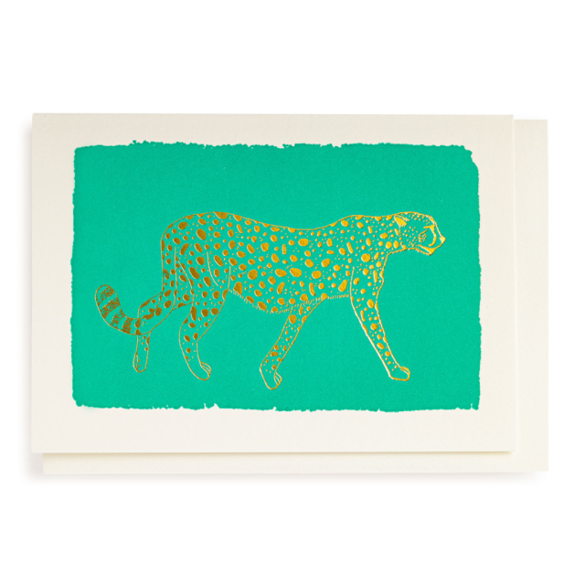 Mint Cheetah - Notelets Singles - from Archivist Gallery