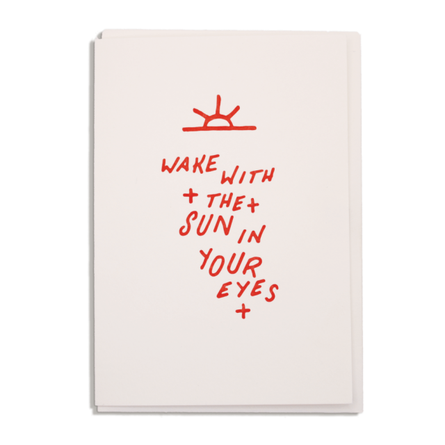 Wake with the Sun - Notelets Singles - from Archivist Gallery