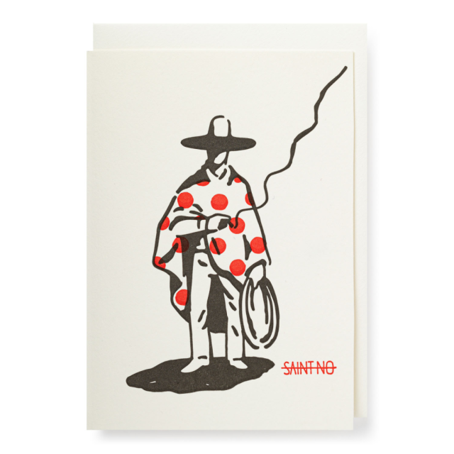 Cowboy with poncho