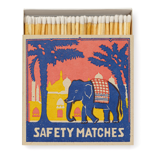 Pink Elephant - Square Matchboxes - Archivist - from Archivist Gallery