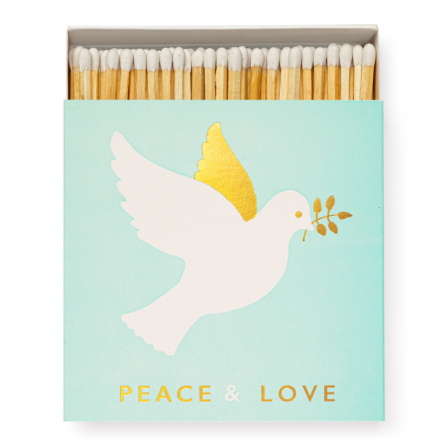 Christmas Dove - Square Matchboxes - Jason Falkner - from Archivist Gallery