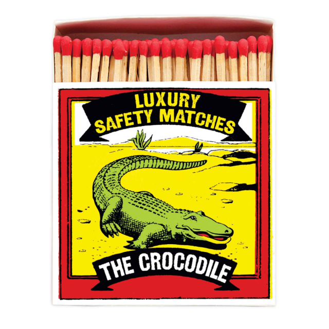 The Crocodile - Square Matchboxes - Archivist - from Archivist Gallery