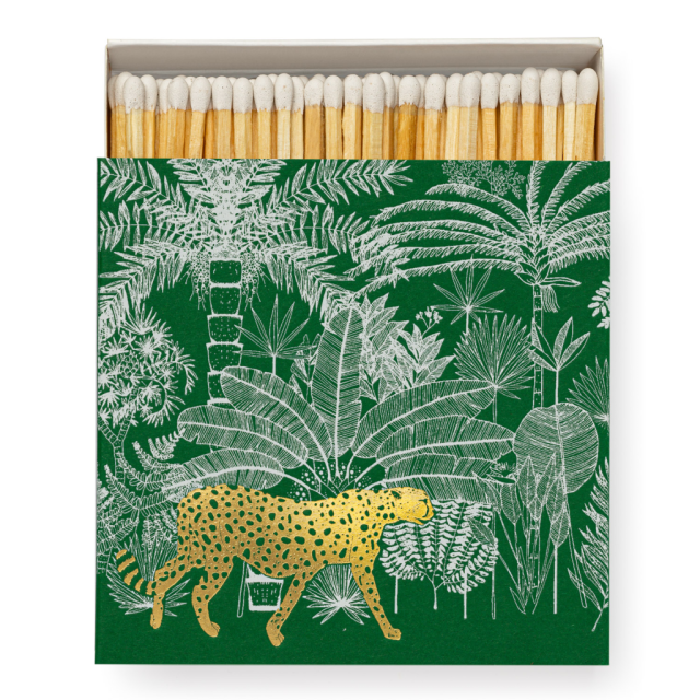 Cheetah in Jungle - Square Matchboxes - Ariane Butto - from Archivist Gallery