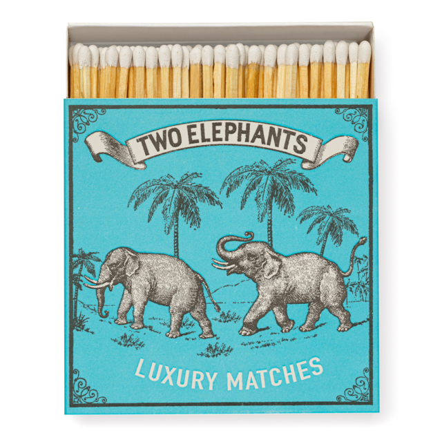 Two Elephants - Square Matchboxes - Archivist - from Archivist Gallery