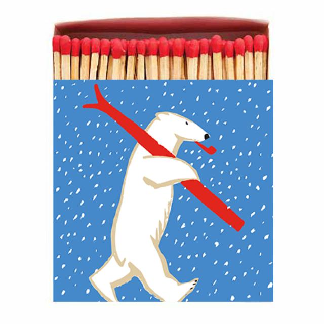Christmas Skiing Polar Bear