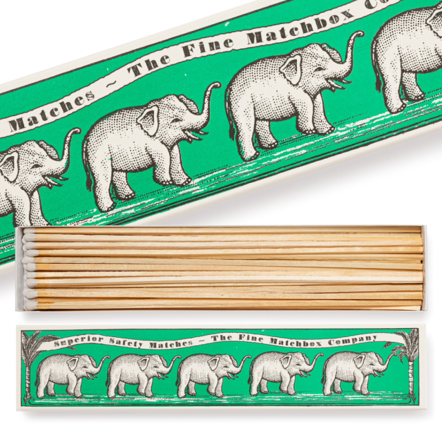Green Elephants - Long Matchboxes - Archivist - from Archivist Gallery