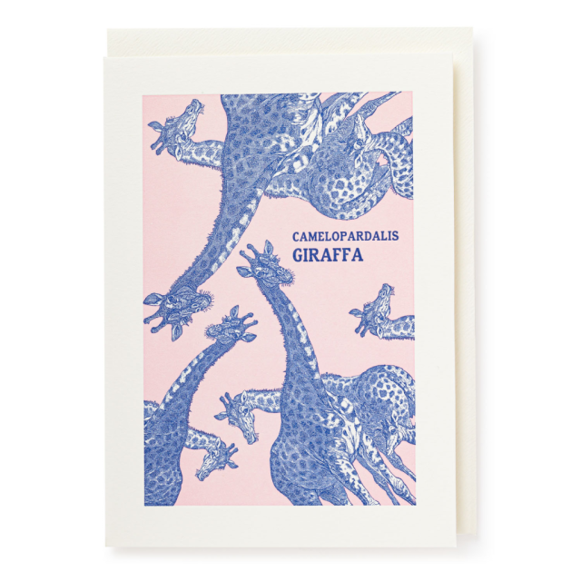 Giraffes - Letterpress Cards - Natural History Museum - from Archivist Gallery