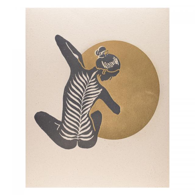 Yoga Lady Print
