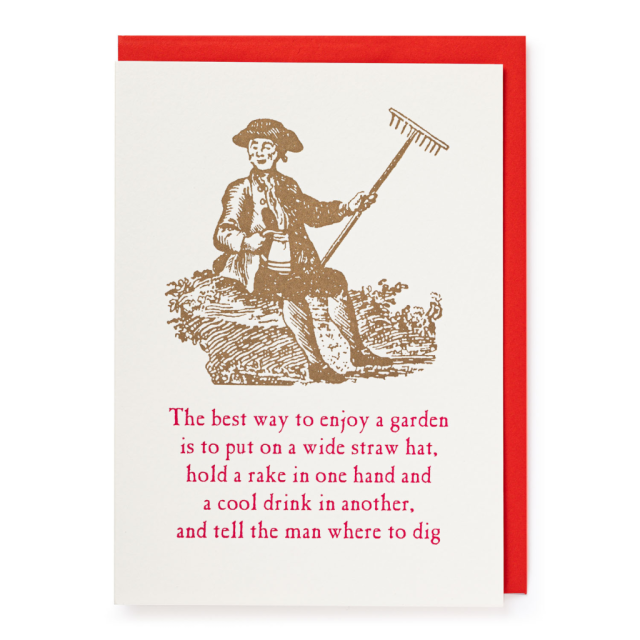 Man and rake