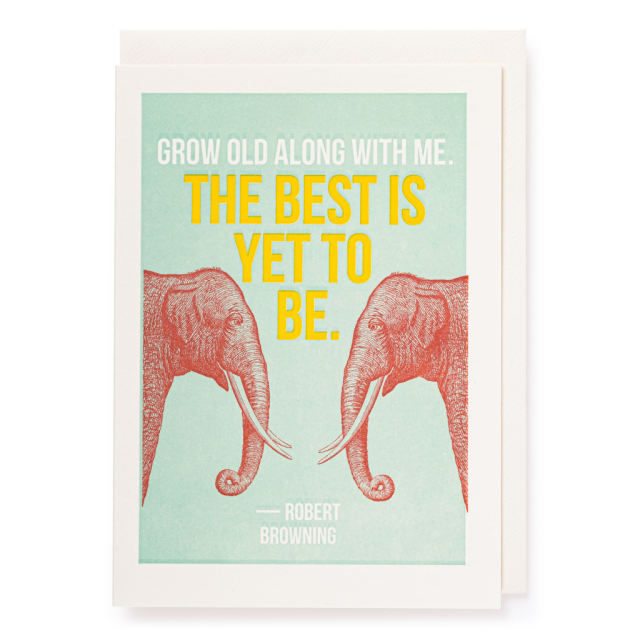 The best is yet to be - Letterpress Cards - Jason Falkner - from Archivist Gallery