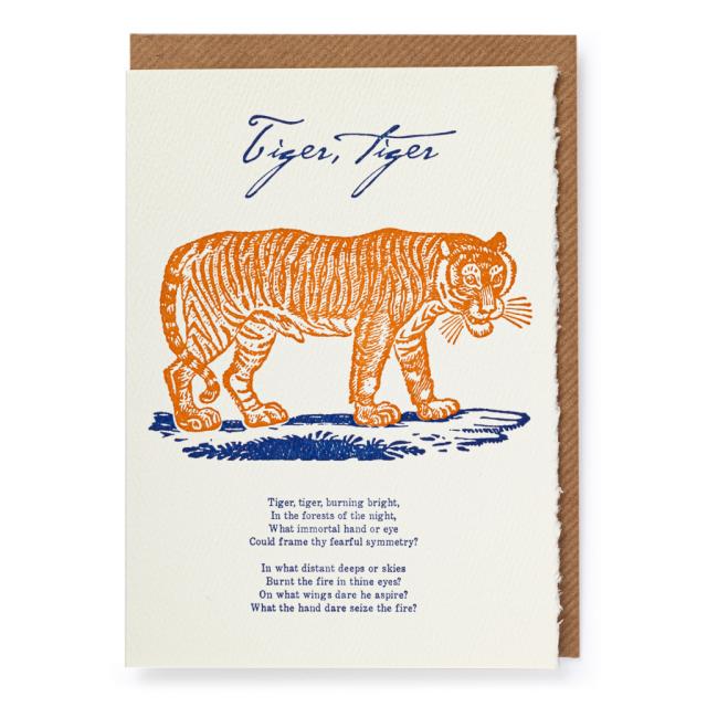 Tiger Tiger - Letterpress Cards - from Archivist Gallery