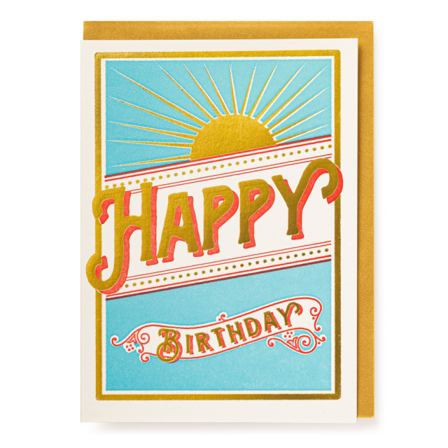 Star Burst Happy Birthday