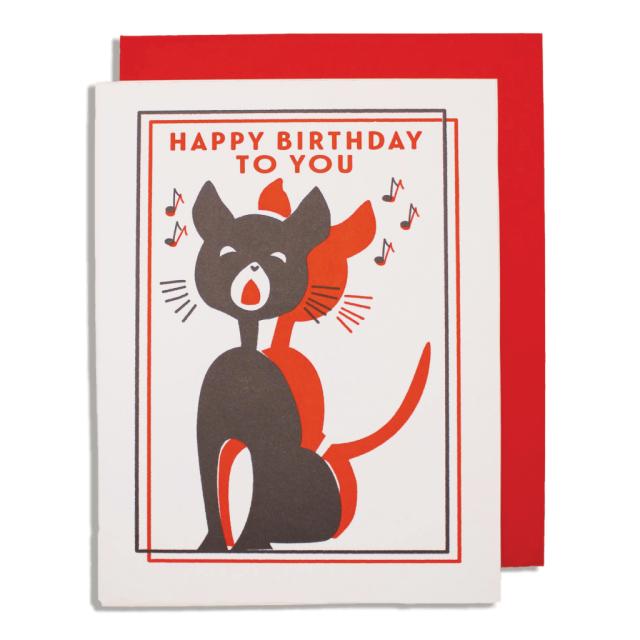 Singing cat birthday