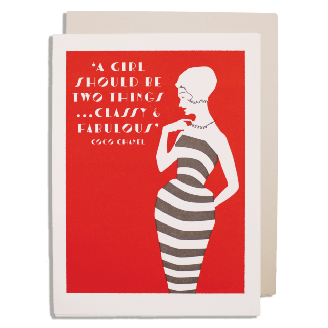 Classy and fabulous - Letterpress Cards - from Archivist Gallery