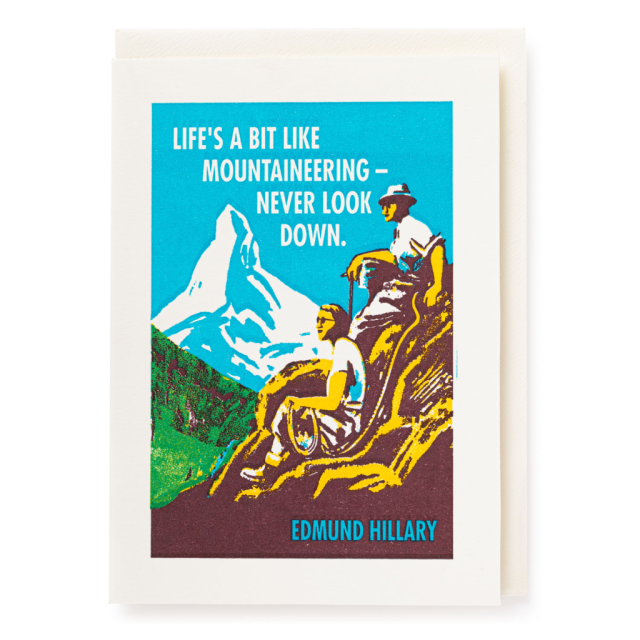 Mountaineering - Letterpress Cards - from Archivist Gallery