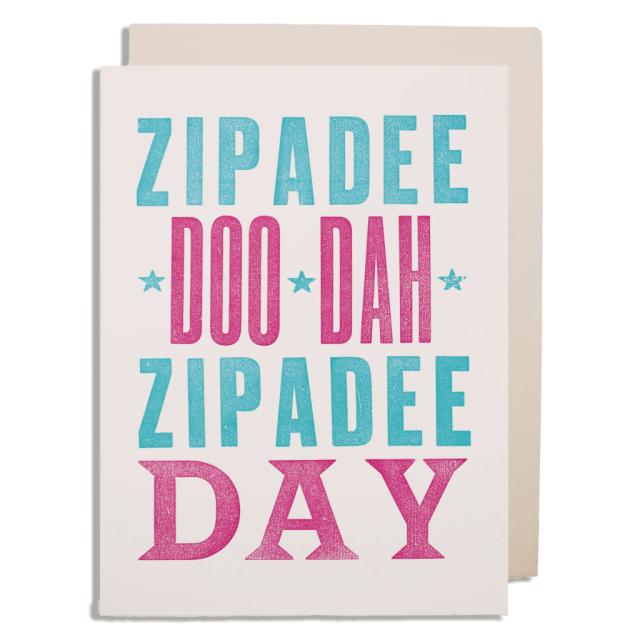 Zipadee - Letterpress Cards - from Archivist Gallery