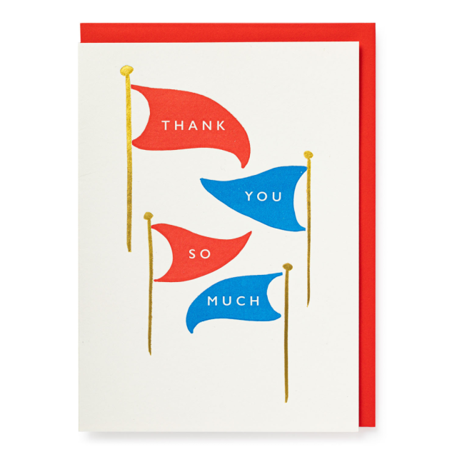 Thank you flags - Letterpress Cards - Jason Falkner - from Archivist Gallery