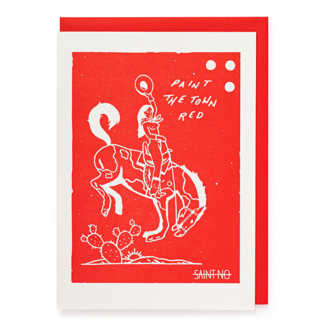 Paint the town red - Letterpress Cards - from Archivist Gallery