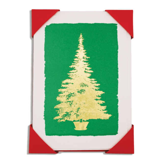 Christmas Tree on Green