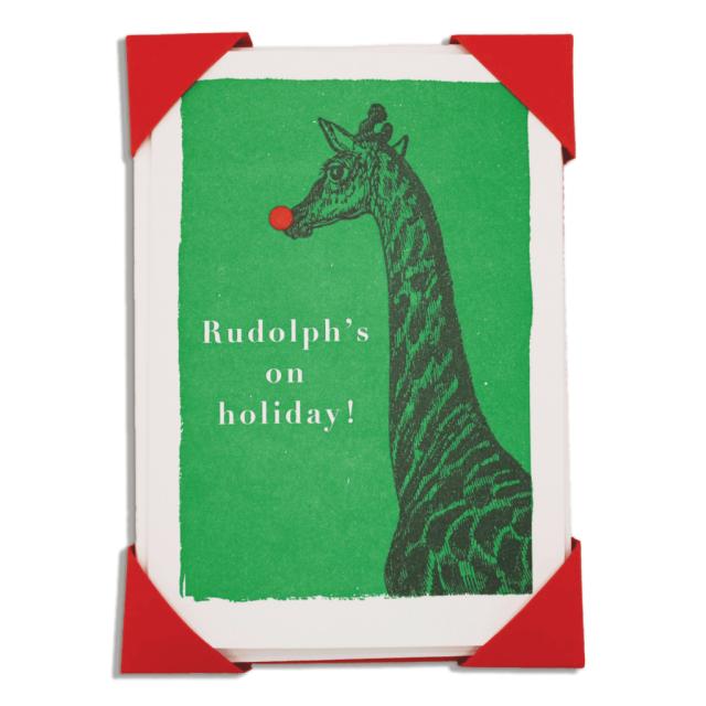 Rudolph's on holiday, Christmas - Notelets Packs - Jason Falkner - from Archivist Gallery