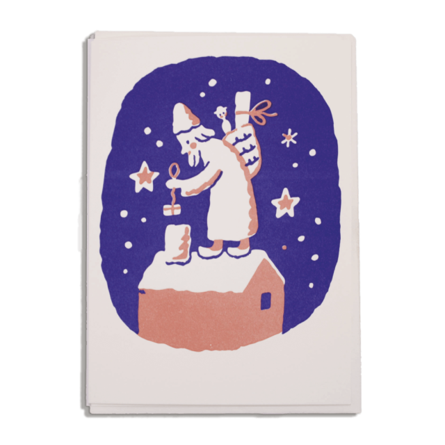 Father Christmas and Chimney - Notelets Singles - Archivist - from Archivist Gallery